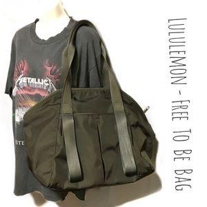 Lululemon Free-To-Be Bag: Olive Green Gym/Duffle